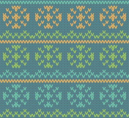 Seamless knit pattern ornament Vector
