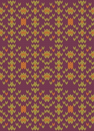 Seamless knit pattern imitation ethnic style Vector