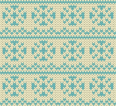 Snow drops seamless knitting pattern Vector
