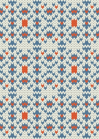 Seamless knit pattern imitation ethnic style Stock Vector - 17088417