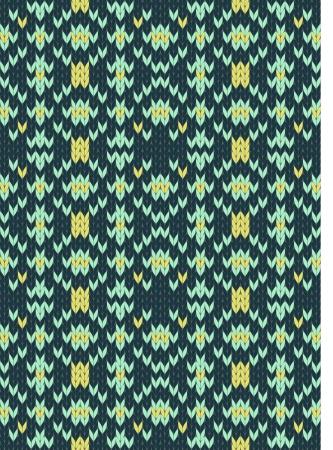 Seamless knit pattern imitation ethnic style Stock Vector - 17142031