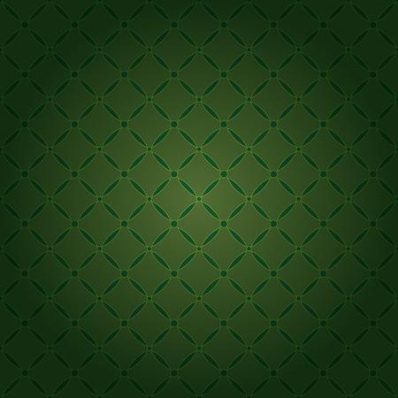 Seamless dark green ornamental rhombus pattern Vector