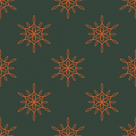 Seamless floral pattern with red elements Vector