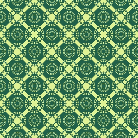 Seamless abstract pattern with circles and rhombuses Vector