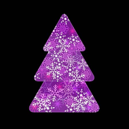 Abstract purple fir tree Stock Vector - 17286870