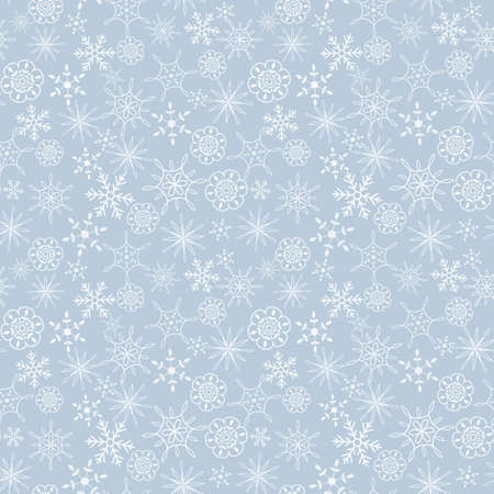 Seamless light blue snow flakes pattern Stock Vector - 17286873