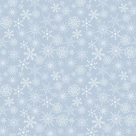 Seamless light blue snow flakes pattern Stock Vector - 17286873