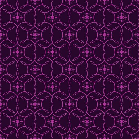 Seamless purple floral ornamental pattern Stock Vector - 18730028