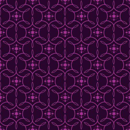 Seamless purple floral ornamental pattern Stock Vector - 18730028