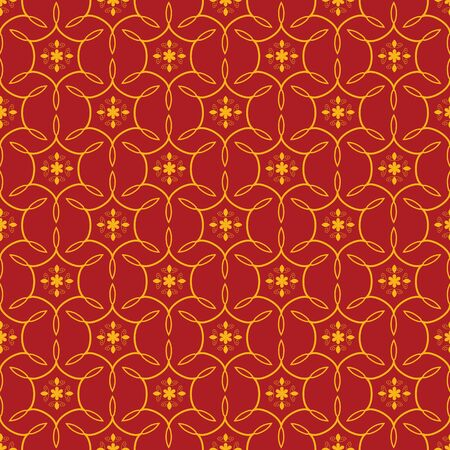 Seamless red ornamental decorative pattern Stock Vector - 18730029