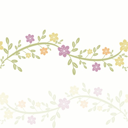 Floral card background with seamless pattern Vector