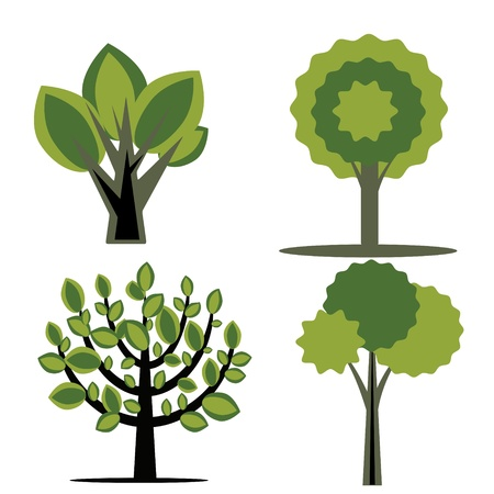 Simple tree decorative collection Stock Vector - 18730034