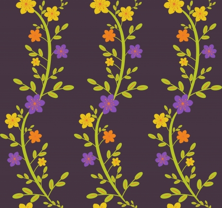 Seamless wavy floral pattern bright colorway Stock Vector - 19581061