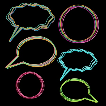 Multicolored speech bubbles and round frames Stock Vector - 19581056