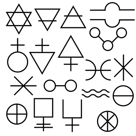 Alchemy symbols collection Stock Vector - 20327208