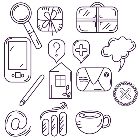 Collection of hand drawn icons Vector