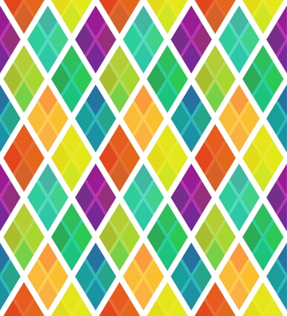 Multicolored rhombus pattern with overlay Vector