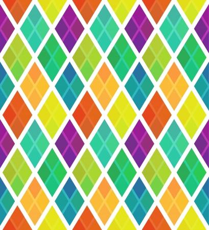Multicolored rhombus pattern with overlay Ilustração