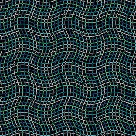 Seamless wavy pattern on dark
