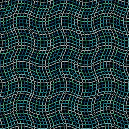 Seamless wavy pattern on dark Vector