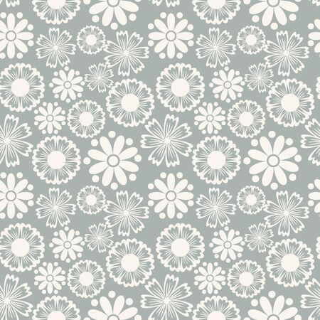 Seamless floral pattern in pastel colorway Vector