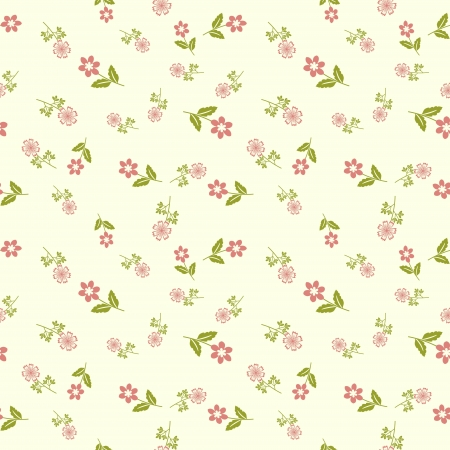 Seamless floral pattern with pnik flowers Vector