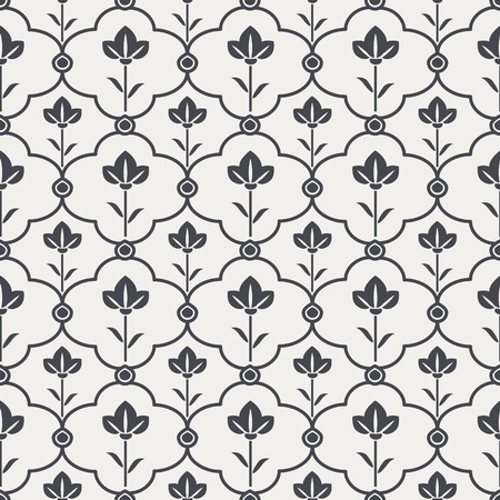 Seamless black and white pattern