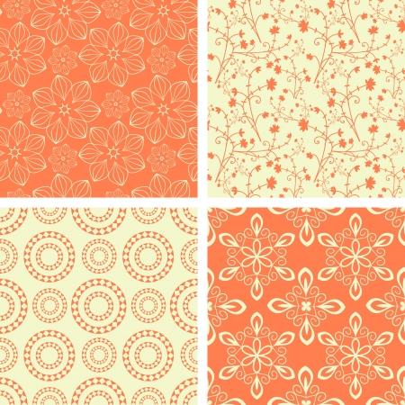 geometricos: Colección inconsútil patrones coral decorativo