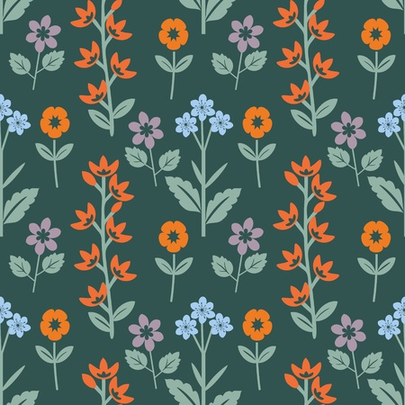 Multicolored bright floral pattern Vector