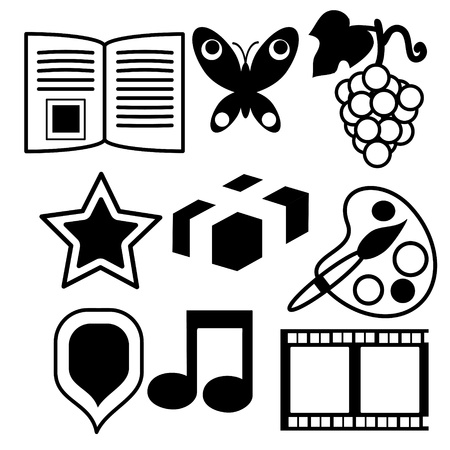Collection of different items Vector