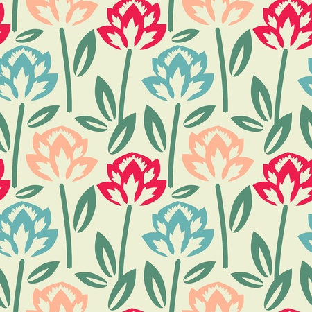 Multicolored floral pattern Vector