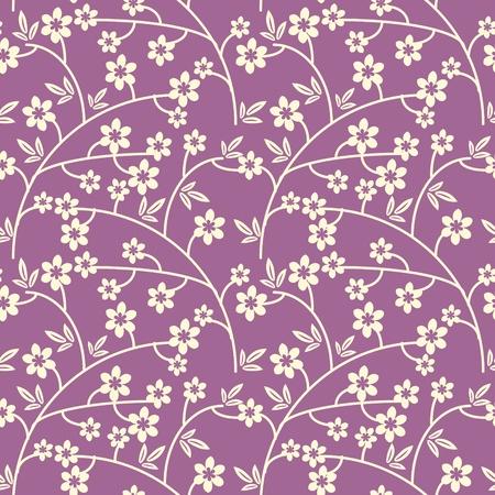 Seamless purple and white seamless pattern