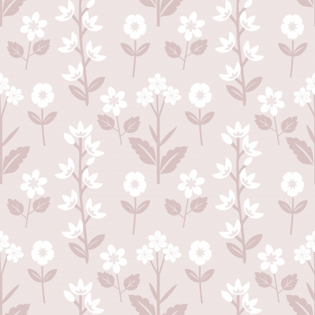 Pastel light violet floral pattern Vector