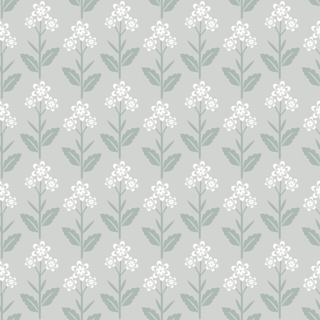 Seamless floral pattern with white flowers Vector