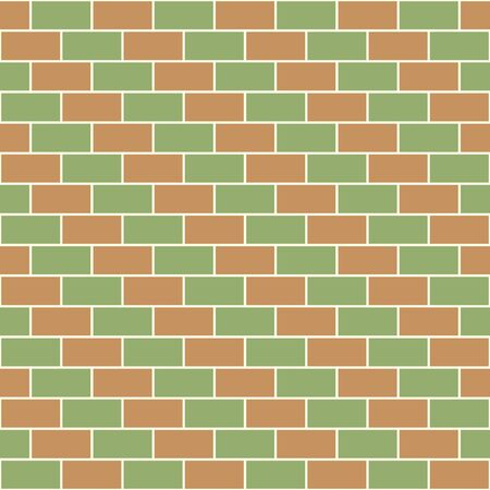 Bricks diagonal pattern red and green Stock Vector - 21026506