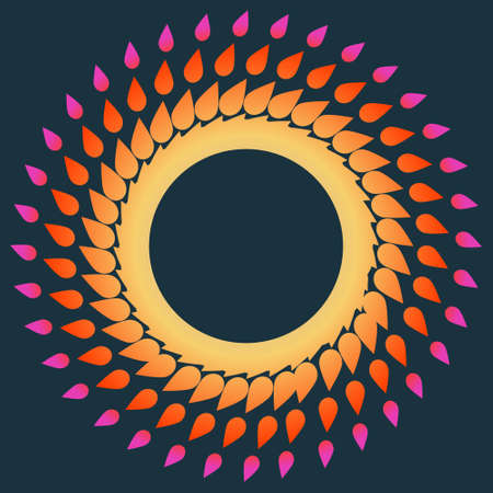 fire circle: Abstract background with  fire circle