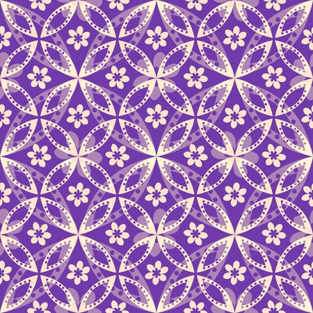 Seamless abstract purple decorative pattern Vector