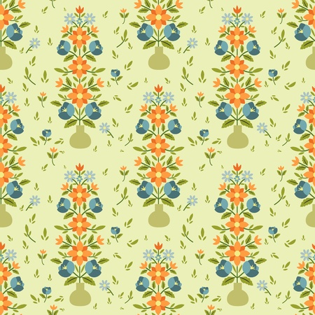 Floral pattern in ethnic style Vector