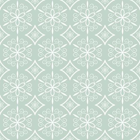 blue damask: Seamless decorative blue damask pattern Illustration