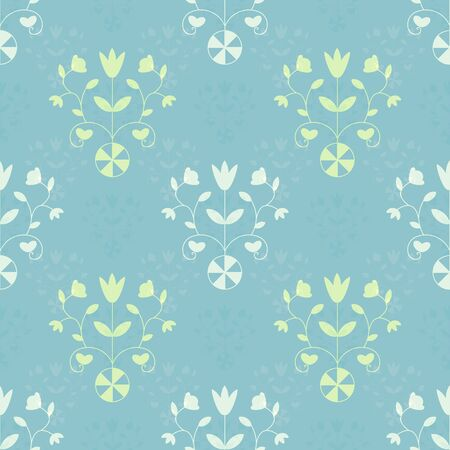 the sprouting: Seamless ornamental pastel decorative pattern