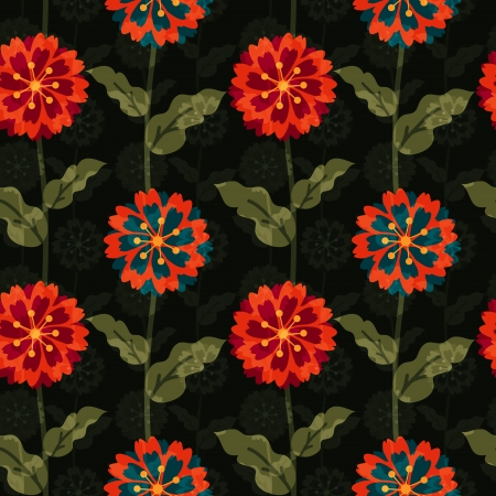 Seamless floral pattern with overlay Vector