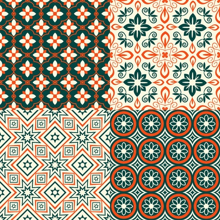 Seamless decorative pattern with ornament Vector