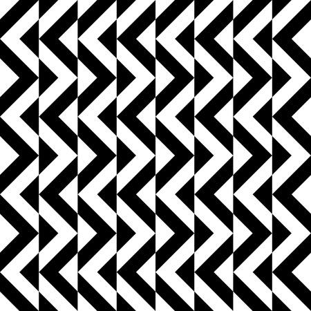 black white: Seamless abstract geometric decorative background Illustration