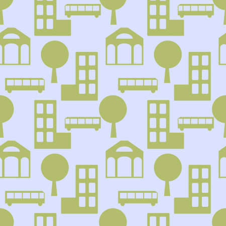 Seamless city abstract simple pattern Stock Vector - 21505381