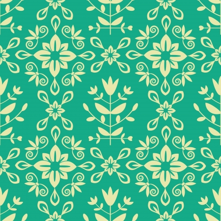 Seamless decorative ornamental damask pattern Stock Vector - 21505389