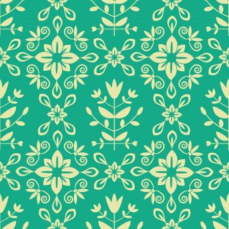Seamless decorative ornamental damask pattern Stock Vector - 21505389