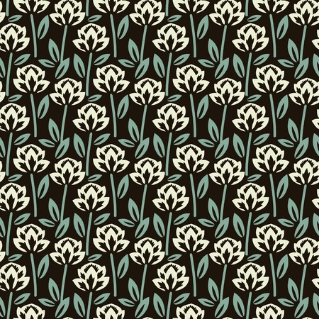 Seamless patternSeamless pattern with decorative flowers photo