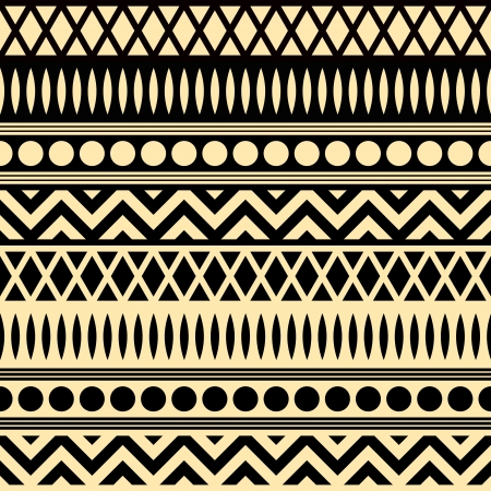 Seamless geometric ancient patterns set Vector