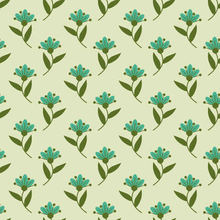 Floral pattern with blue flowers Vector