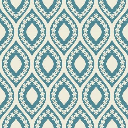 Seamless pattern blue and white Çizim